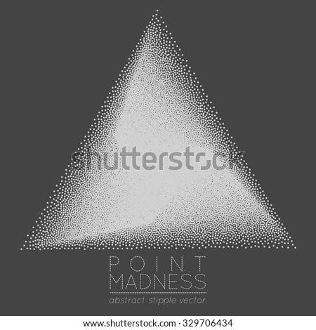 Vector Illustration Abstract Dotted Symbol Delta Stock Vector
