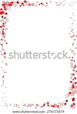 Vector Illustration Abstract Frame Made Red Stock 2018 276573674
