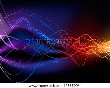Vector illustration of abstract glowing background