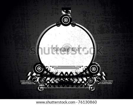 vector illustration of abstract grungy frame - stock vector
