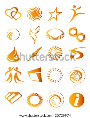 vector illustration of abstract icon elements - stock vector