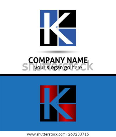 Vector illustration of abstract icons based on the letter K logo