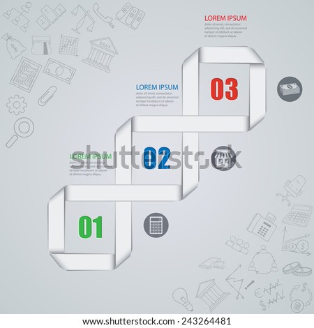 Vector illustration of abstract images infographics on the economy - stock vector