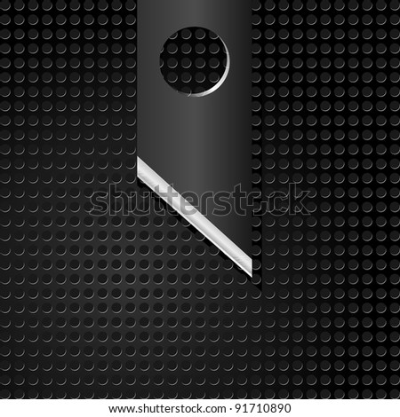Vector illustration of abstract metal background with  knife - stock vector