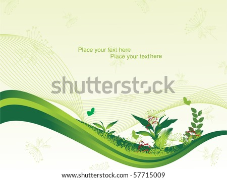 vector illustration of abstract nature background - stock vector