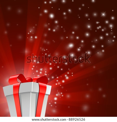 Vector Illustration of Abstract Re Light background - stock vector