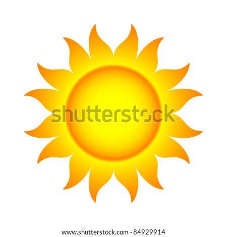 Vector Illustration of Abstract Sun With Flames (.jpg file has clipping path)