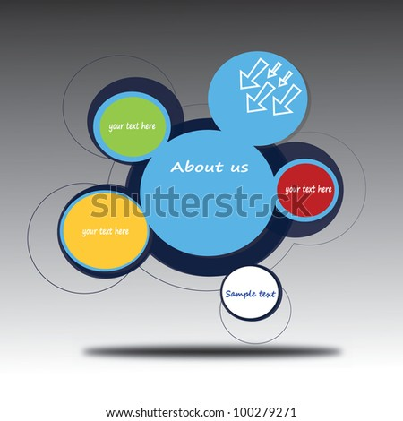 vector illustration of abstract web design - stock vector