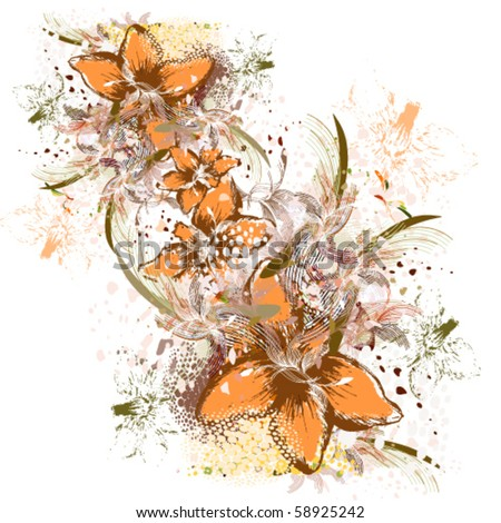 vector illustration of abstraction - stock vector