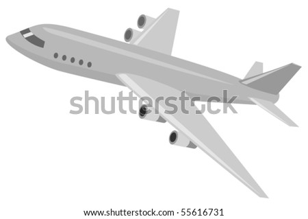 Vector illustration of airplane - stock vector