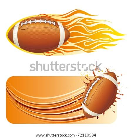 vector illustration of american football - stock vector