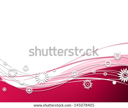 Vector Illustration of an Abstract Background with Flowers