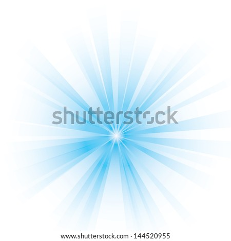 Vector illustration of an abstract blue light. - stock vector