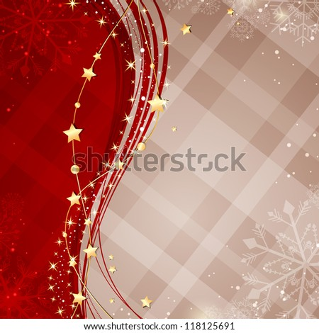 Vector Illustration of an Abstract Christmas Background - stock vector