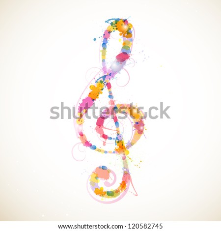 Vector Illustration of an Abstract Colorful Clef - stock vector
