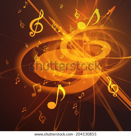 Vector Illustration of an Abstract Music Background