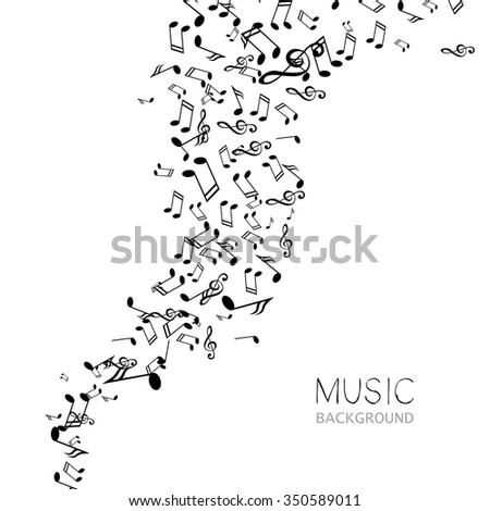 Vector Illustration of an Abstract Music Design - stock vector