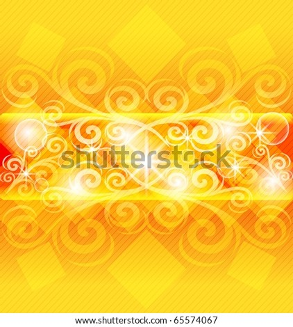vector illustration of an abstract orange background. eps10 - stock vector