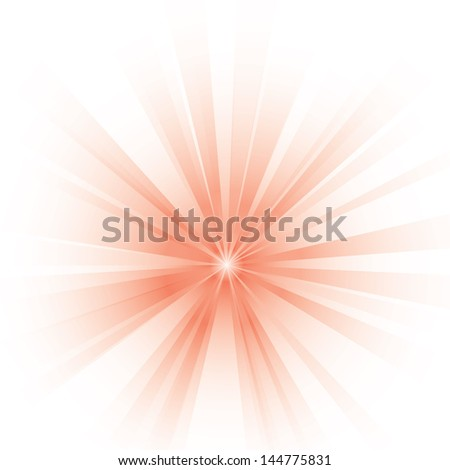 Vector illustration of an abstract red light. - stock vector