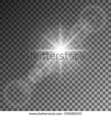 Vector illustration of an abstract set of images of light and flashes. - stock vector