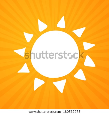 Vector Illustration of an Abstract Summer Sun - stock vector