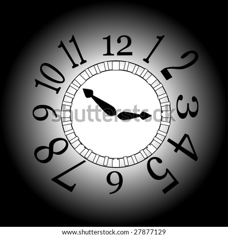 vector illustration of an abstract time concept - stock vector