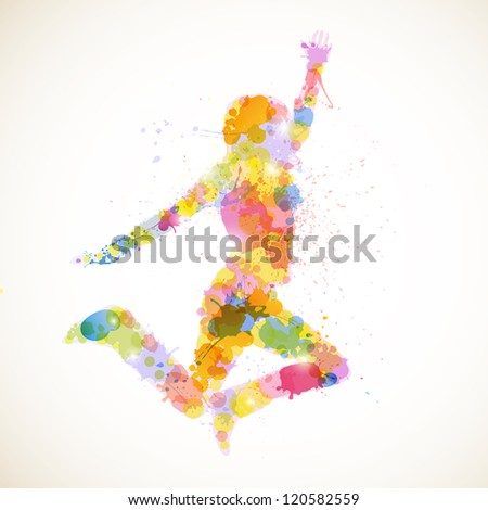 Vector Illustration of an Abstract Woman - stock vector