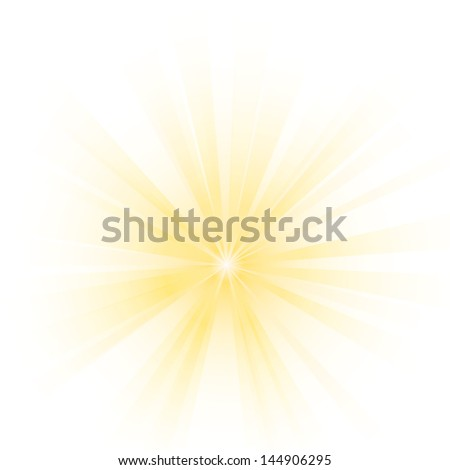 Vector illustration of an abstract yellow light. - stock vector