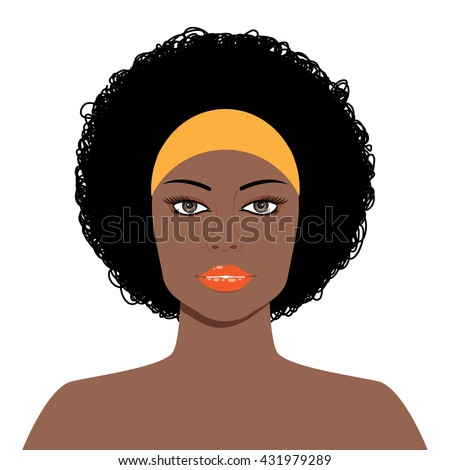 Afro Hair Vector Afro Hairstyle Stock I...