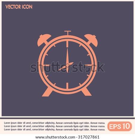 Vector illustration of an alarm clock  - stock vector