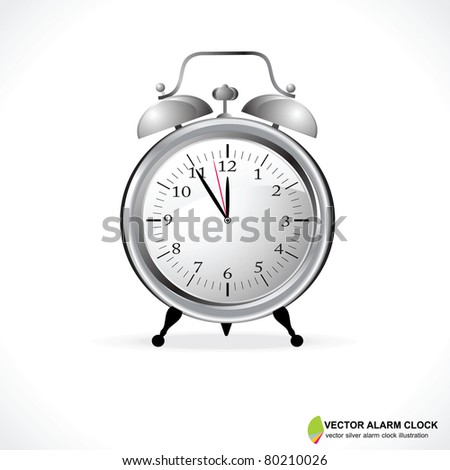 Vector Illustration of an Analog Alarm Clock - stock vector
