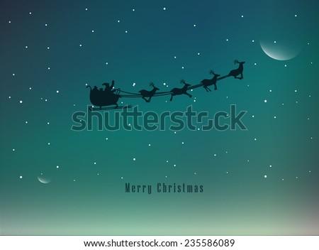 Vector Illustration of an Elegant Christmas Background - stock vector