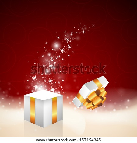Vector Illustration of an Elegant Christmas Background with Gift