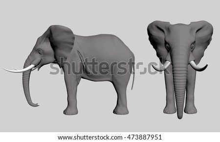 how to draw an elephant head side view