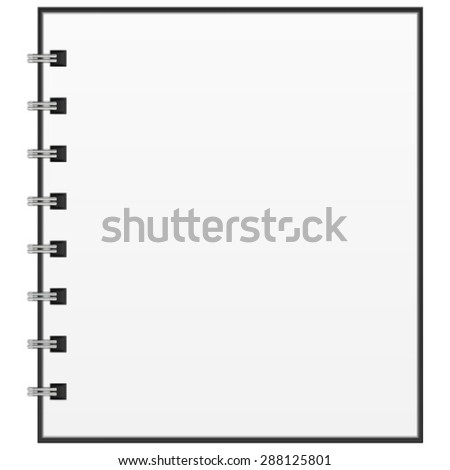 Vector illustration of an empty open notepad for your design