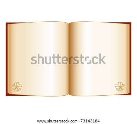 vector illustration of an open book isolated on a white background - stock vector