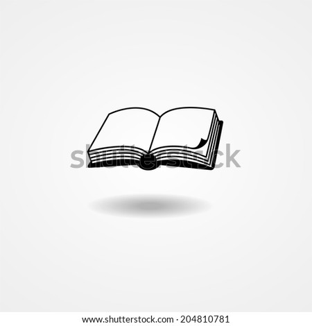 vector illustration of an open book on white background - stock vector