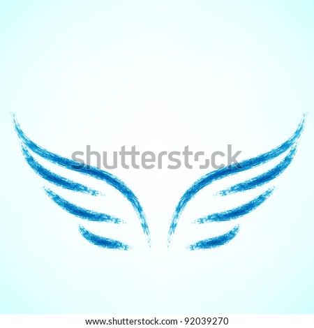 Vector illustration of angel icon. - stock vector
