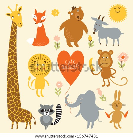 Vector illustration of animal - stock vector