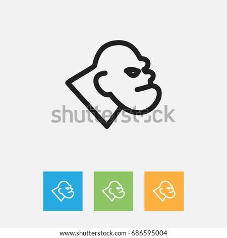 Vector Illustration Animal Symbol On Monster Stock Vector 686595004