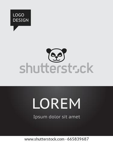 Vector Illustration Animal Symbol On Panda Stock Vector 665839687