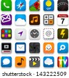 Vector illustration of app icon set. Eps10. - stock vector