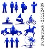 vector illustration of assorted human activities and services - stock vector