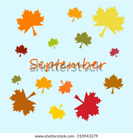 Vector illustration of autumn month of September