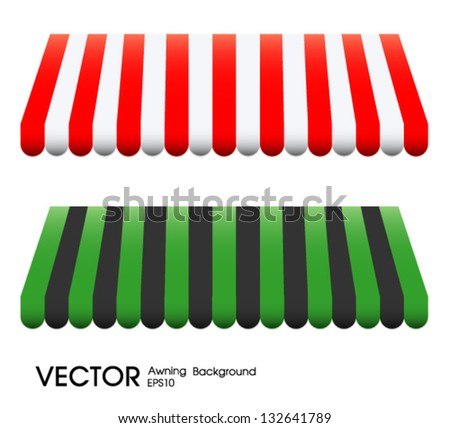 Vector illustration of  awning - stock vector