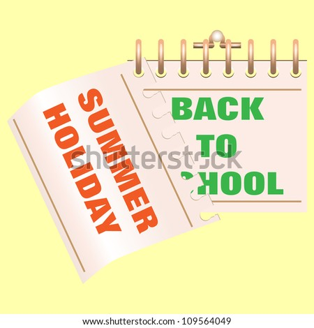 Vector illustration of Back to school calendar. End of holiday. Start of school. - stock vector