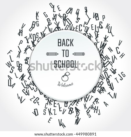 Vector Illustration of Back to School for Design, Website, Background, Banner. Greeting card for Student. Education template