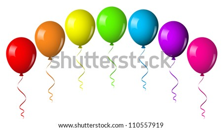 Vector illustration of balloon arch - stock vector