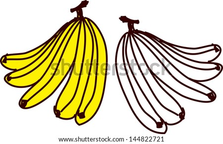 Vector illustration of bananas