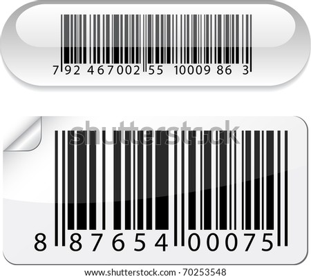 Vector illustration of barcode buttons. - stock vector